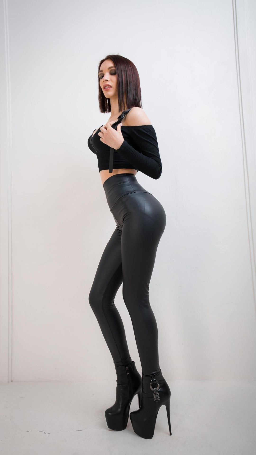 High Waist Leather Leggings