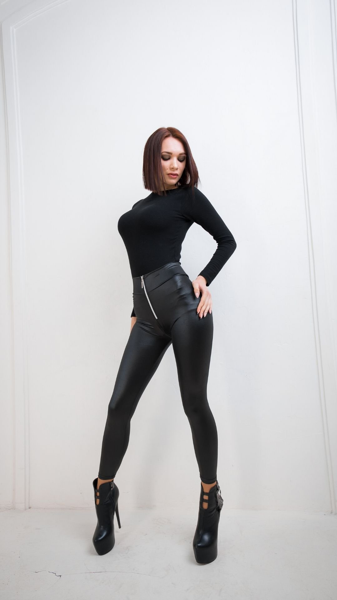 High Waist Zip Leggings